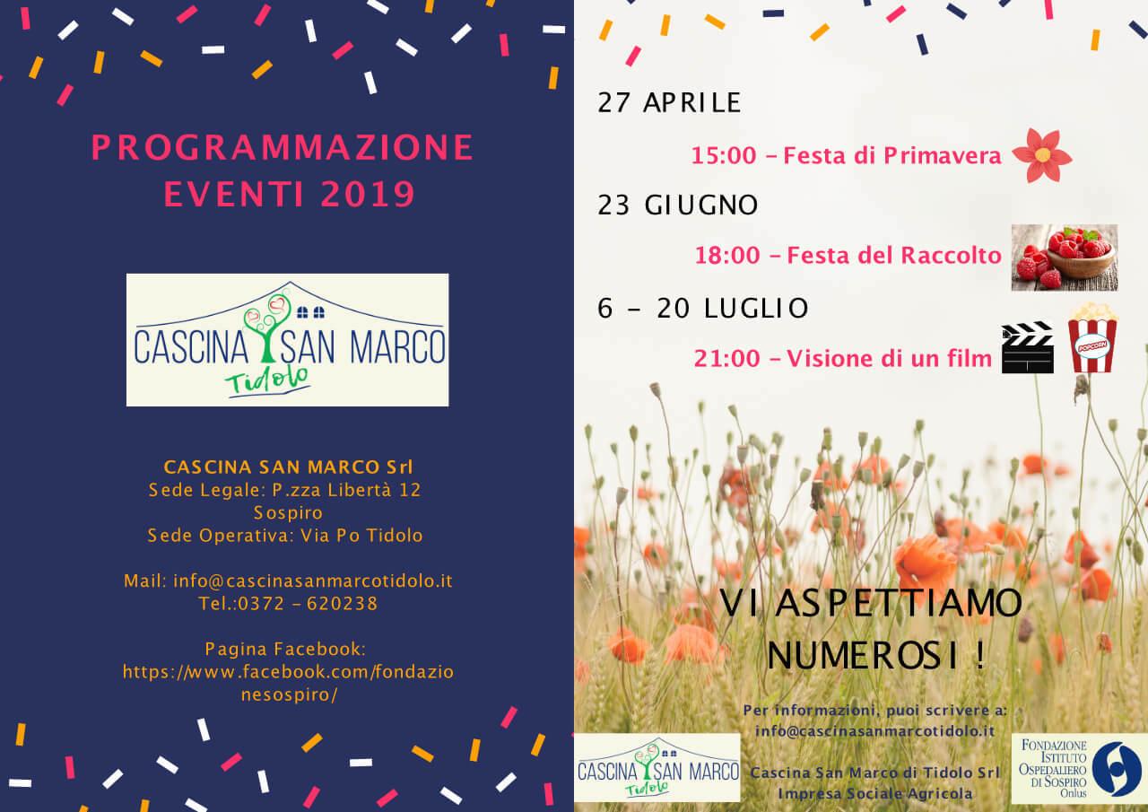 I nostri eventi del 2019 | Cascina San Marco Tidolo